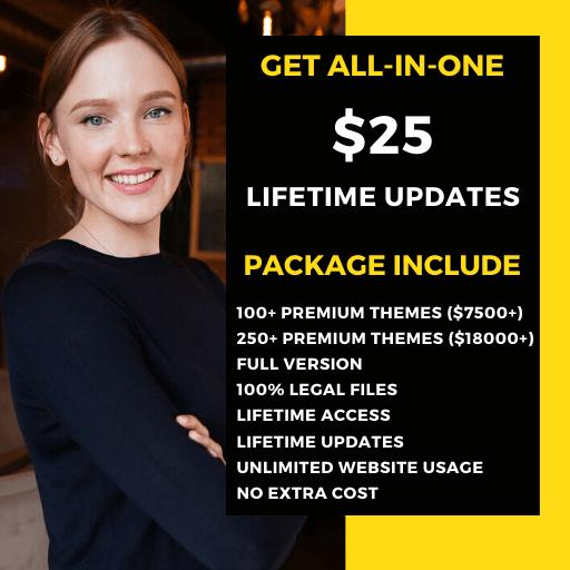 $25 wordpress themes plugins lifetime updates
