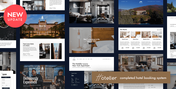 hoteller booking theme